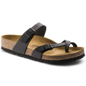 Birkenstock Mayari Black Toe Strap Sandals Shoes